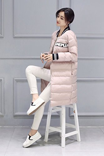Invierno Abrigo Pink Chaqueta Larga Cálido Woman Bigood Slim De Wadded wq5ZX5z