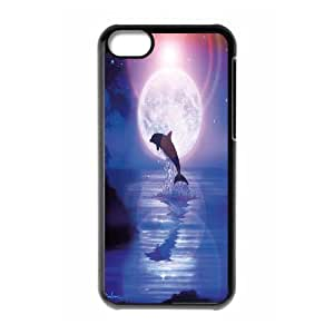 Dolphins Pattern Hard Shell Phone Case For Iphone 5C Case HSL388217
