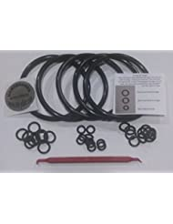 Universal Kegco type O-Ring Five Gasket Sets for Cornelius Home Brew Keg and Homebrewed With Pride keg sticker and O-ring Pick