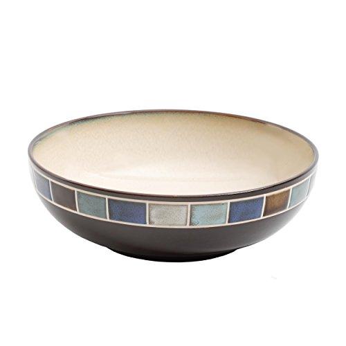 Blue Stoneware Bowl (Gibson Elite Casa Azul Reactive Glaze 10