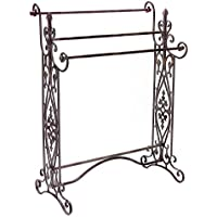 Quilt Rack Made of Quality Metal with Durable Construction and Orante Style in Black Color With Three Rods for Handing Buy Yours Now