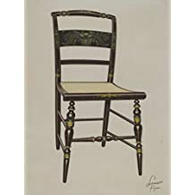 Artist: Lawrence Flynn | Design: Hitchcock chair | Date: probably 1936 | Vintage Fine Art Print