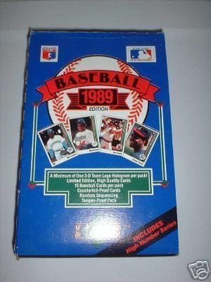 1989 Upper Deck High Series MLB Baseball box (Deck Series Upper Mlb)