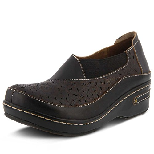 Spring Step Women's Brunbak Slip On Shoe Black by Spring Step