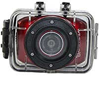 Vertigo 121 2.0 Full Touch Screen, Waterproof Sports & Action Video Camera, Red