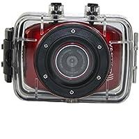 Vertigo 121 2.0 Full Touch Screen, Waterproof Sports & Action Video Camera, Red