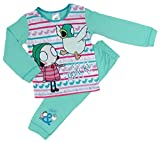 Toddler Girls Sarah and Duck Pyjama Set Sleeping Ducks 18-24M to 4-5Y … (3-4 Years, Aqua and Pink with Striped Bottoms)