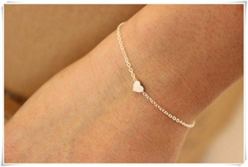 Tiny Or rose Cœur Bracelet