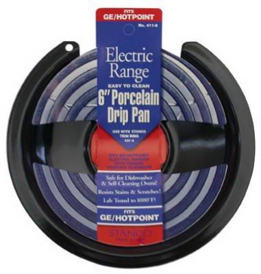Stanco Electric範囲Drip Pan for g.e.ブラック磁器onスチール、クロム6で。   B0044UMRJ4