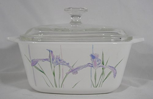 Iris Casserole (Corning Shadow Iris Pattern 2 2/3 Cup Casserole With Glass Lid)