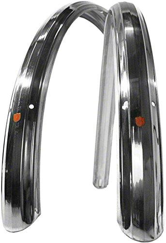 Velo Orange 700c Zeppelin Fender Set: Polished Silver; 52mm