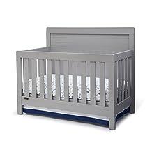 Delta Children Rowen 4-in-1 Convertible Crib, Grey