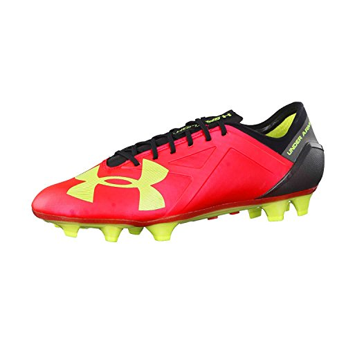Under Armour base ball Spotlight FG scarpa uomo Rosso (Rocket Red/High-Vis Yellow/Black)
