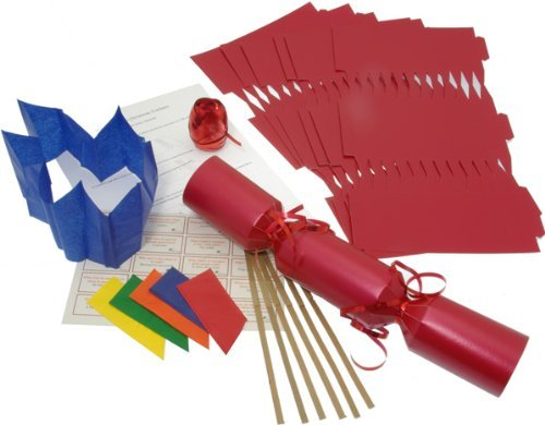 10 x make your own large 14 35cm christmas cracker kits red 10 x make your own large 14 35cm christmas cracker kits red amazon toys games solutioingenieria Images