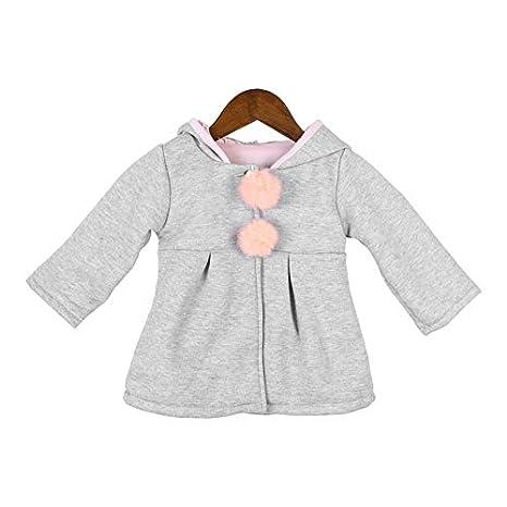 Bebés bebés mangas largas Abrigo de algodón suave con forma de dibujos animados Abrigos con capucha cálidos Un solo abrigo de abrigo largo: Amazon.es: Bebé