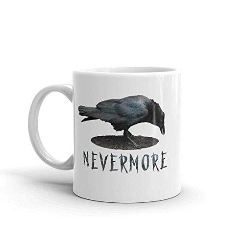 Starbucks Coffee Cup Costumes (Nevermore, Poe's Raven Coffee Mug, Halloween Mug, Literary Coffee Cup, Book Nerd Gift, Book Mug, Crow Mug, Librarian Gift, Poetry Coffee Cup, 11oz, 15oz, gift)