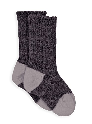 Blocks Acrylic Sock (Warrior Alpaca Socks - Baby Alpaca Dye-Free Baby Color Block SocksNEW (BB/ 0-6mos, Grey / Silver))