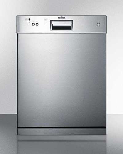 Summit Dishwasher 32.25in H x 23.5in W x 22.5in D, Stainless DW2433SSADA by Summit