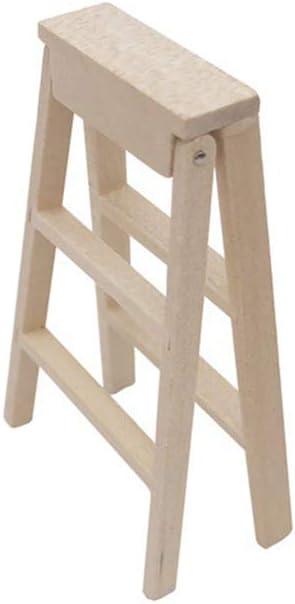 Ogquaton 1:12 Miniatura Casa de Muñecas Muebles de Escalera de Madera para Hadas Accesorios de Jardín Los Niños Pretenden Jugar Juguete: Amazon.es: Hogar