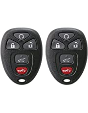 Keyless2Go New Keyless Entry Remote Start Car Key Fob for Select Vehicles That use OUC60270 OUC60221 Remote (2 Pack)