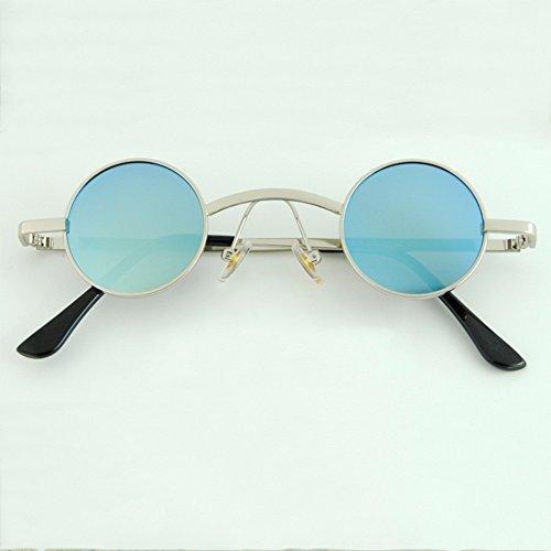 B B Metal ZHANGRONG polarizadas Frame de redondas sol Classic Men Gafas Color qPP6R1vH
