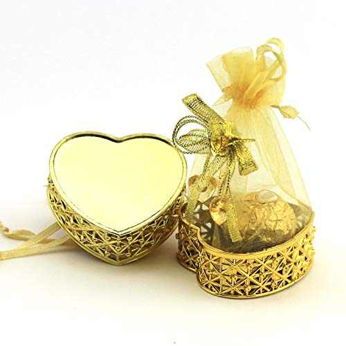 JC HUMMINGBIRD 24PC Fillable Heart Crown for Table Decorations, Party Favors, Candies, Wedding
