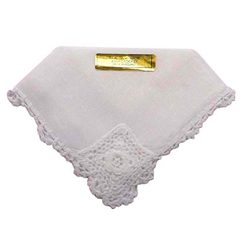 - Samuel Lamont Linen Mother of the Bride Embroidered Lace Handkerchief