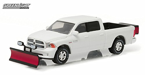 Snow Dodge Truck Plow (Greenlight 1:64 2015 Ram 1500 With Snow Plow and Salt Spreader (Hobby Exclusive))