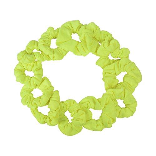 Yellow Scrunchie (Set of 12 Scrunchies - Neon Yellow)
