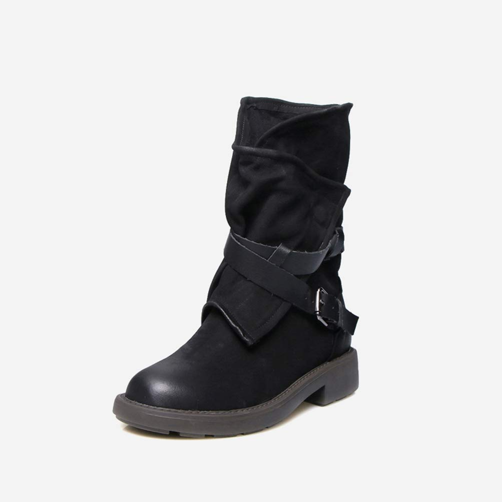 Black T-JULY Spring Autumn Handmade Women Genuine Leather Mid Calf Boots Solid Black White Zipper Flat Boots