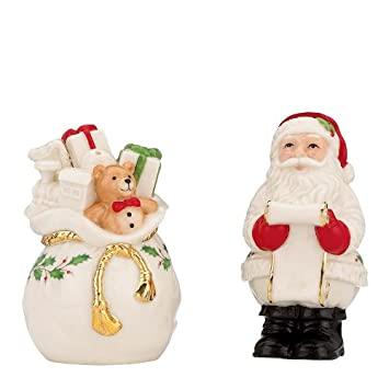 LENOX HOLIDAY Salt Pepper Set Checking it Twice