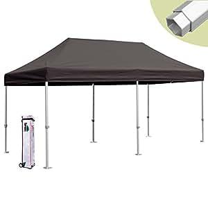 eurmax 10 x 20 easy pop up canopy carport wedding party tent with roller bag black. Black Bedroom Furniture Sets. Home Design Ideas