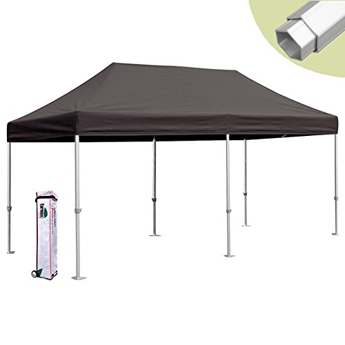 Eurmax 10 X 20 Easy Pop up Canopy Carport Wedding Party Tent with Roller Bag (Black) For Sale