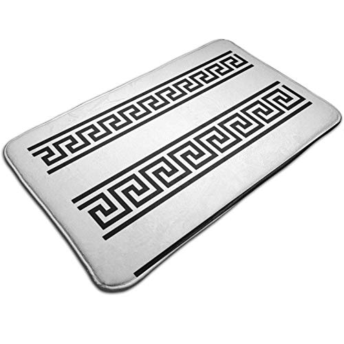 Greek Fret Key Design,Entrance Rug Floor Mats Non Slip Heavy Duty Door Mat Carpet for Indoor Outdoor Garage 19.5