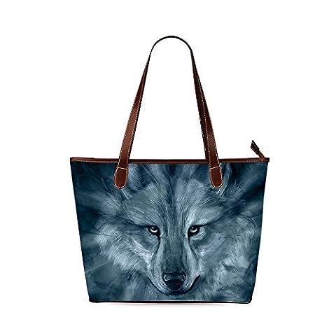 Wolf Custom Interest Print Tote Bag - Earthway Bag Seeder