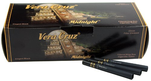 Vera Cruz Midnight King Size Cigarette Tubes (200ct per box - 5 Boxes)