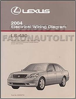 2004 lexus wiring diagram 2004 lexus ls 430 wiring diagram manual original lexus amazon  2004 lexus ls 430 wiring diagram manual