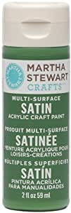 Martha Stewart Crafts Multi-Surface Satin Acrylic Craft Paint (2 Ounce), 32002 Pesto