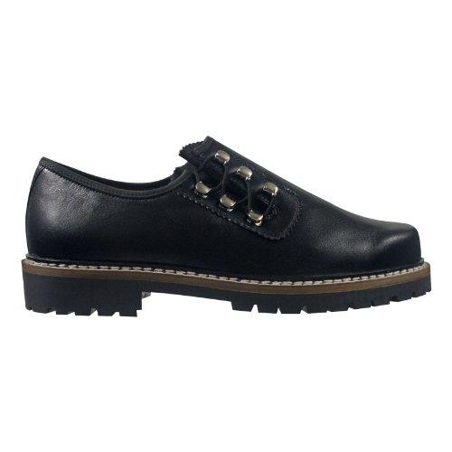SCHAPURO 10135-905 Herren Schuhe Premium Qualität Trachten Schnürer Schwarz (Schwarz)