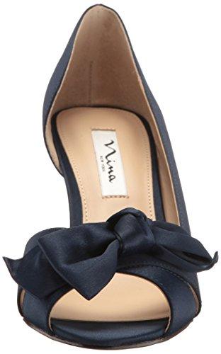 Nina Vrouwen Forbes2 Dress Pomp Ls-new Marine