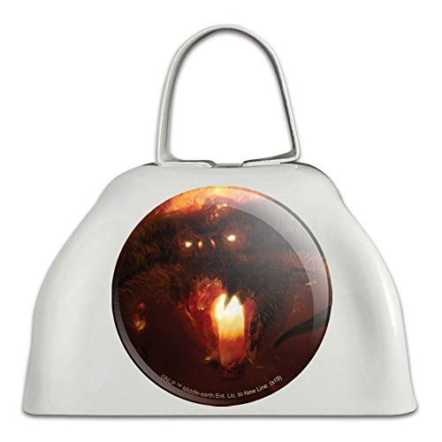 The Lord of the Rings Balrog Character White Metal Cowbell Cow Bell Instrument (Lord Of The Rings In Concert Usa)