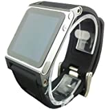Multi-Touch Aluminum Watch Band Cover Case for Apple iPod nano 6th generation 8GB 16GB;Hand Strap For iPod Nano 6G(Gray)