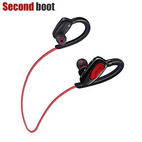 Bluetooth Headphones Wireless Earbuds Sweatproof Sports Headphones HD Stereo in-Ear Noise Canceling Earphones with Mic Headphones Compatible iPhone Samsung Android Smartphone