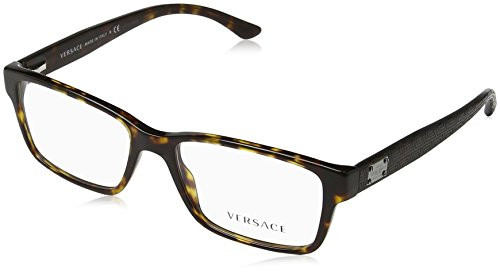 Versace VE3198 Eyeglass Frames 108-55 - Dark Havana - Names Shapes Of Frame Glasses
