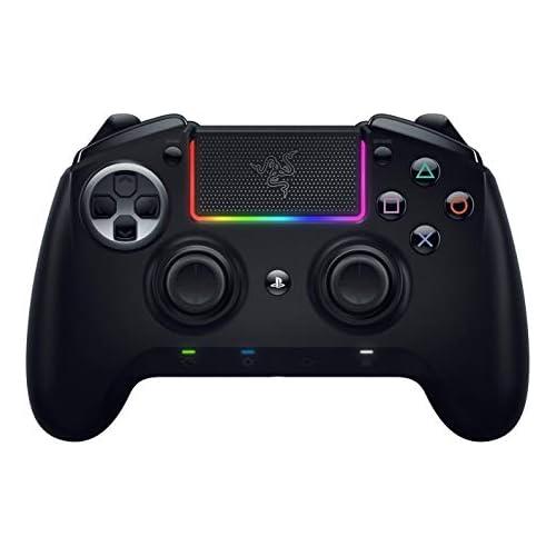 chollos oferta descuentos barato Razer Raiju Ultimate 2019Mando de juegos inalámbrico y con cable para PS4 y PC Mando Gaming con Bluetooth y cable botones de accióntáctiles mecánicos intercambiables Negro