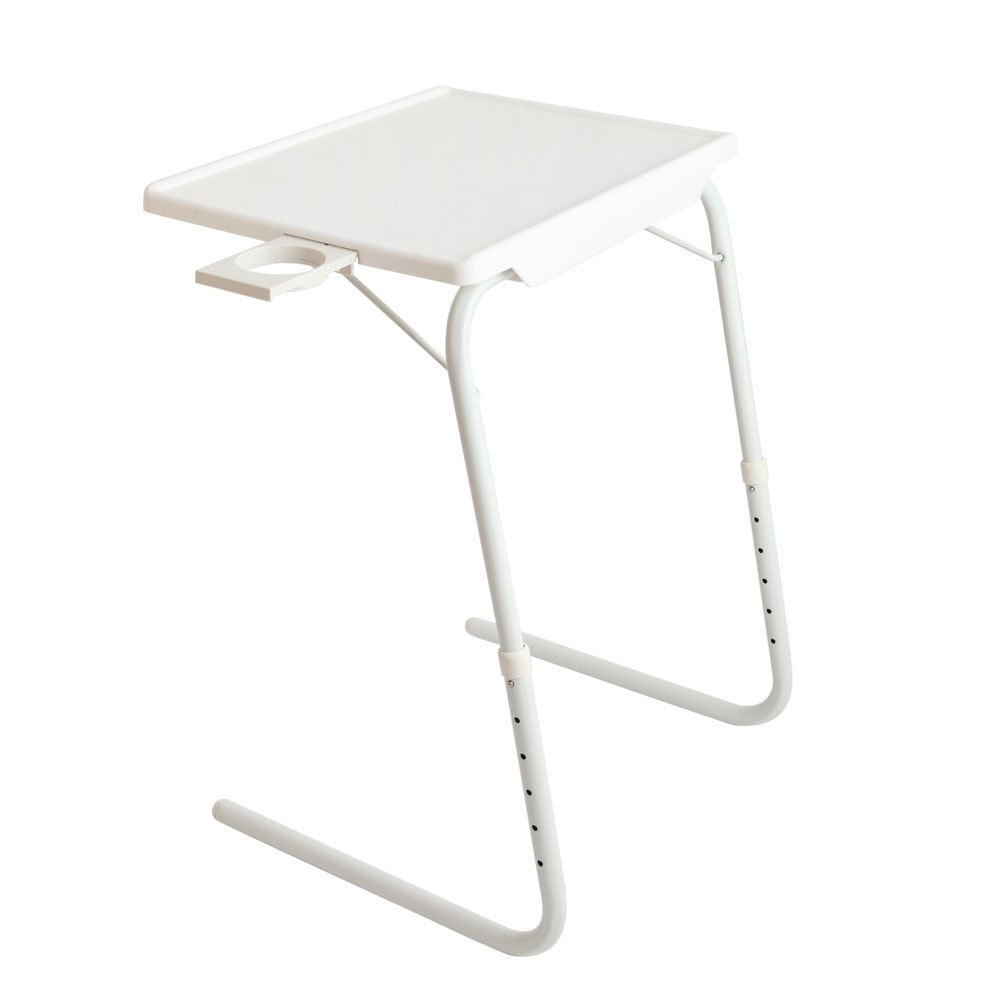 Prountet Smart Table Companion Folding Table Adjustable Tray Foldable Desk W/Cup Holder