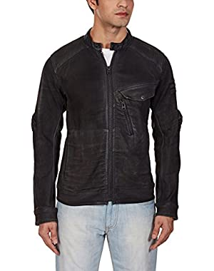 Men's Revend 3D Slim Jacket In Slander Black Superstretch