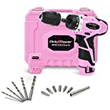Cheap Pink Power PP121ID 12V Cordless Impact Drill Driver Tool Kit for Women- Tool Case, Lithium Ion Electric Drill, Bit Set, Battery and Charger