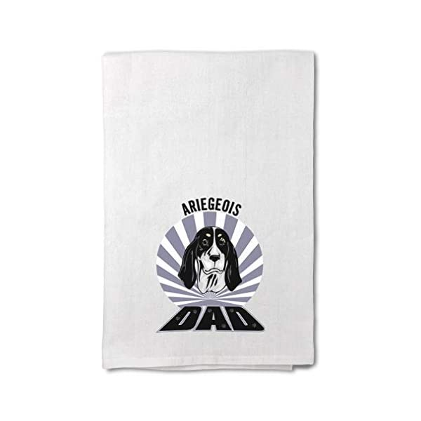 Style In Print Custom Decor Flour Kitchen Towels Dad Ariegeois Dog Pets Dogs Cleaning Supplies Dish Towels Design Only 1