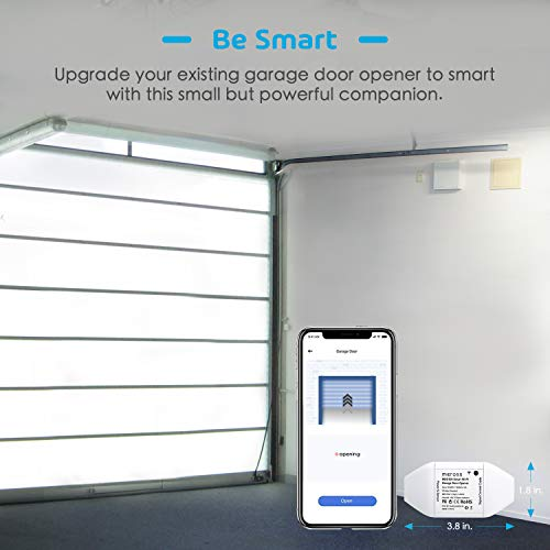 meross Smart Wi-Fi Garage Door Opener Remote, APP Control, Compatible with  Alexa, Google Assistant and IFTTT, No Hub Needed